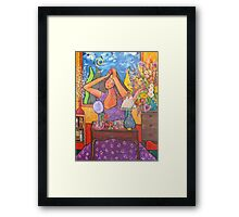 Woman at Dressing Table Framed Print