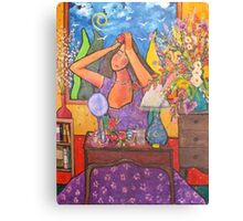 Woman at Dressing Table Canvas Print