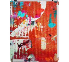 7 DAYS OF SUMMER-URBAN RED&ORANGE SPLASH CANVAS iPad Case/Skin