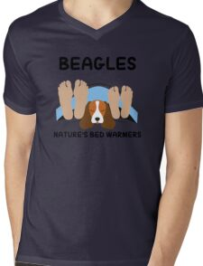 Beagles - Nature's Bed Warmers Mens V-Neck T-Shirt