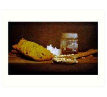 Coconut, oats and honey Art Print