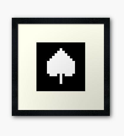White Spade Framed Print