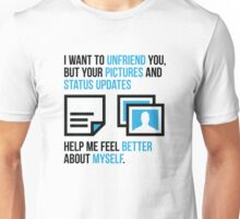 Social networks increase my self-confidence Unisex T-Shirt