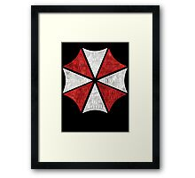 Resident Evil Umbrella Typography Framed Print