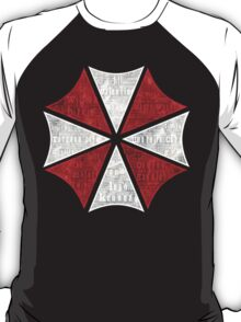 Resident Evil Umbrella Typography T-Shirt