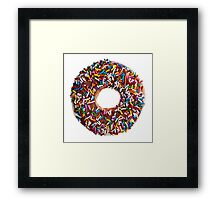 Chocolate Sprinkle Donut Framed Print