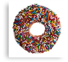 Chocolate Sprinkle Donut Canvas Print