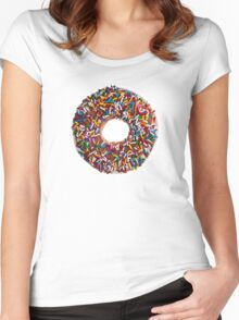 Chocolate Sprinkle Donut Women's Fitted Scoop T-Shirt