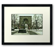Statue of Nikola Tesla at Niagara Falls, New York Framed Print