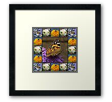 Bees and Butterflies Collage Framed Print