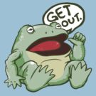 GET OUT. Something Awful Frog by StudioMarimo