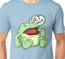 GET OUT. Something Awful Frog Unisex T-Shirt