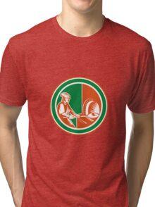 Baker Peel Bread Pan Circle Retro Tri-blend T-Shirt