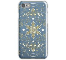 Ornate Snowflake Pattern - Blue iPhone Case/Skin