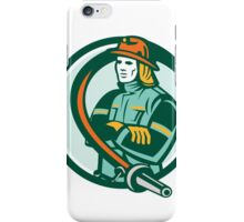 Fireman Firefighter Folding Arms Circle Retro iPhone Case/Skin