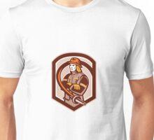 Fireman Firefighter Folding Arms Shield Retro Unisex T-Shirt