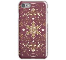 Ornate Snowflake Pattern - Red iPhone Case/Skin