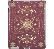 Ornate Snowflake Pattern - Red iPad Case/Skin
