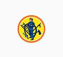 Fireman Firefighter Fire Hose Ladder Circle Unisex T-Shirt