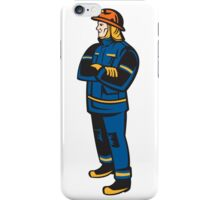 Fireman Firefighter Folding Arms Retro iPhone Case/Skin