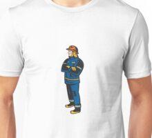 Fireman Firefighter Folding Arms Retro Unisex T-Shirt