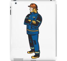 Fireman Firefighter Folding Arms Retro iPad Case/Skin