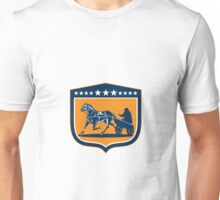 Horse and Jockey Harness Racing Shield Retro Unisex T-Shirt