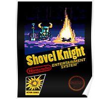 Retro Shovel Knight Poster