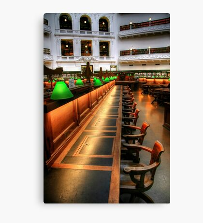 Inside the Reading Room Canvas Print