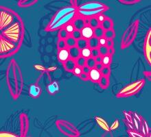 Tutti Frutti on Dark Teal Sticker