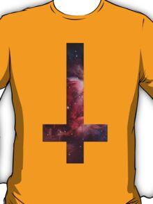 Upside down Cross Galaxy T-Shirt