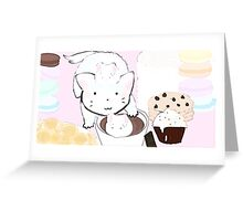 Hot chocolate and marshmallow Greeting Card