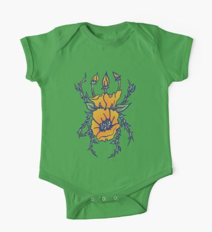 California Poppy Stag One Piece - Short Sleeve