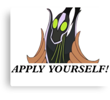 Rubick-- Apply Yourself! Canvas Print