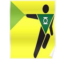 Green Lantern Pictogram Poster