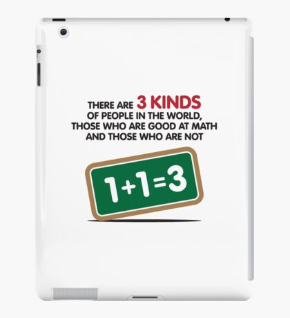There are 3 kinds of people on this earth iPad Case/Skin