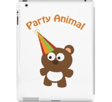 Party Animal - bear iPad Case/Skin