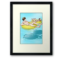 The Lazy River Framed Print