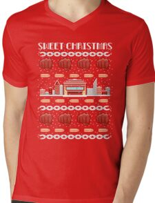 Sweet Christmas Luke Cage Holiday Pattern Mens V-Neck T-Shirt