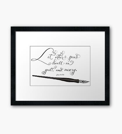 Other pens inspirational quote Framed Print