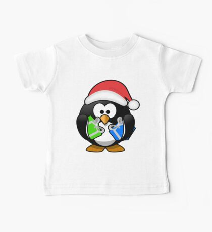 Penguin with Gifts Baby Tee