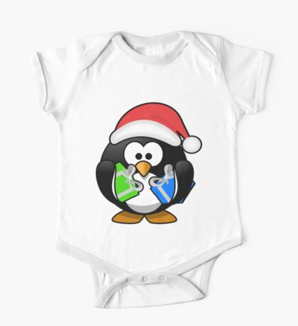 Penguin with Gifts One Piece - Short Sleeve