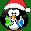 Penguin with Gifts by FrankieCat