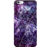 Purple, Blue, and Red Crackle Grunge Texture iPhone Case/Skin