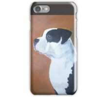 Pit Bull on watch iPhone Case/Skin
