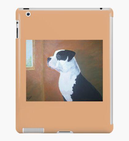 Pit Bull on watch iPad Case/Skin