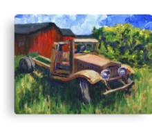 My 1931 International Truck Canvas Print