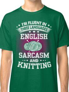 English, Sarcasm And Knitting Classic T-Shirt