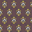 Mustache Panda 3 (Pattern 2) by Adamzworld