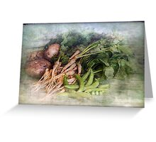 Peas Parsnips and Potatoes Greeting Card